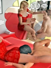 Mom domination Part 2 - Father and Son are slaves for mommy…