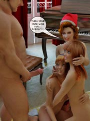 Christmas Gift Part 2 - Santa-dad and family orgy sex